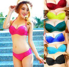 6c91fb9239 Aliexpress.com   Buy Wholesale 2014 New Arrival Cheap Summer Beach Bikini Set  Split Bra Sexy Triangle Swimwear Brand Seaside Plus Size  260 from Reliable  ...