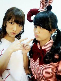 #Nabilah #JKT48 (right) #with #AkiTakajo #ex #Akb48 (left) :) #funny #cute #asian #singer