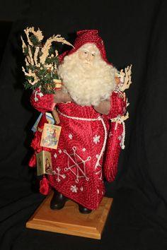 """Lynn Haney's  """"Crimson Frost""""  Santa"""