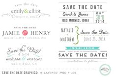 Save the Date Wedding Overlays #2