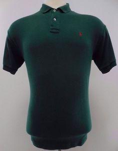 Polo Ralph Lauren Interlock Polo Shirt L Large Green Mens Pony Logo Cotton Size* #PoloRalphLauren #PoloRugby