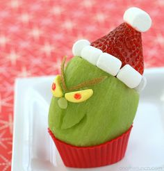 haha! looks like a kiwi with a strawberry on top