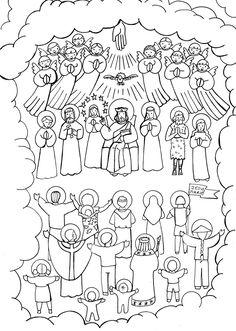 Best Coloring: All saints list coloring pages - Amazing Coloring sheets - Jesus Coloring Pages, Kids Printable Coloring Pages, Animal Coloring Pages, Coloring Pages To Print, Coloring Book Pages, Coloring Pages For Kids, Coloring Sheets, Catholic Mass, Catholic Saints