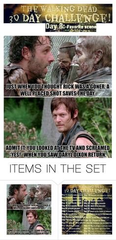 """""""30 Day THE WALKING DEAD Challenge- Day 8"""" by batgirl-at-the-disco3 ❤ liked on Polyvore featuring art, Favorite, scene, thewalkingdead, TWD and Daryl"""