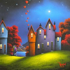 """Moonlight Northern Romance"" ~ gesehen bei: David Renshaw Artist https://www.facebook.com/davidrenshawart/"