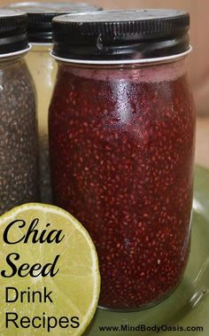 These chia seed recipes are very similar to drinks sold in health food stores. Mama Chia and Synergy Kombucha are two of them. They are wonderful, but very expensive, and a lot of them are loaded … Juice Smoothie, Smoothie Drinks, Detox Drinks, Healthy Smoothies, Healthy Drinks, Smoothie Recipes, Chia Seed Smoothie, Nutrition Drinks, Healthy Nutrition