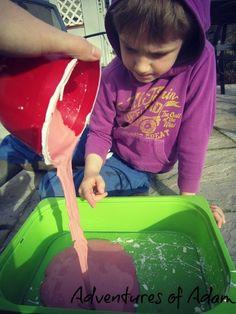 Day 6 - Slime/ Gloop Gloop | http://adventuresofadam.co.uk/gloop-day-99-toddler-play-challenge/