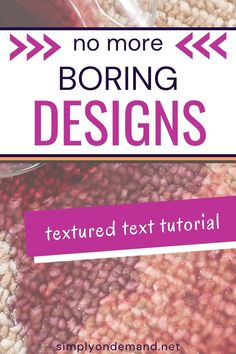 Learn how to create textured text with Canva. Canva has many ways for you to use texture in a design. Using textures to add dimension to a design is just one of the eye-catching ways you can spruce up your creative designs. Designs do not need to be boring. Ban boring designs! Watch this short free tutorial video on how to use texture in your text with Canva. Creative Design, My Design, Stock Photo Sites, Design Department, Social Media Images, Perfect Image, Texture Design, Say Hi, Soft Colors
