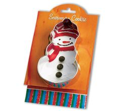 Snowman Cookie Cutter   4.75 Tin Cookie Cutters & by swigshoppe, $3.99