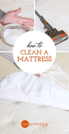 Getting your mattress clean is actually easier than you think! This simple process uses baking soda to eliminate dust mites, allergens, odors, and more. Deep Cleaning Tips, House Cleaning Tips, Cleaning Solutions, Spring Cleaning, Cleaning Hacks, Cleaning Products, Diy Hacks, Daily Cleaning, Cleaning Recipes