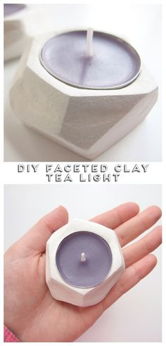 DIY Faceted Clay Tealight Holders. | Gathering Beauty #diy