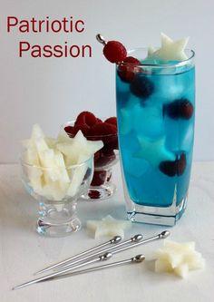 Patriotic Passion Cocktail FoodBlogs.com