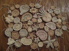 breathtaking crochet.    Морской фриформ.  Салфетки и скатерти вязаные