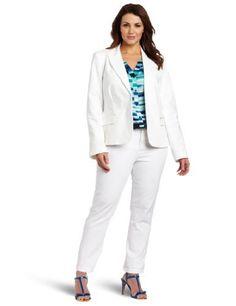 Calvin Klein Women's 1 Button Colored Jacket Calvin Klein. $69.99. 63% Cotton/34% Polyester/3% Spandex. Dry Clean Only. 1 button colored jacket. Made in China