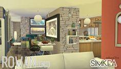 Rowan All-In-One Condo Room at Simkea via Sims 4 Updates