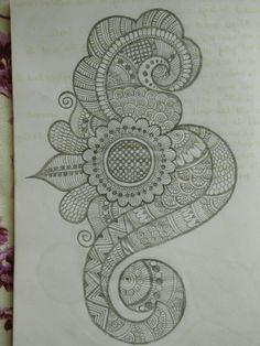 Pencil Henna pattern 06 done by beena Patel Peacock Mehndi Designs, Mehndi Designs Book, Indian Mehndi Designs, Mehndi Designs 2018, Mehndi Designs For Girls, Modern Mehndi Designs, Mehndi Design Pictures, Wedding Mehndi Designs, Mehndi Designs For Fingers