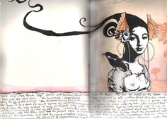 double page spread.