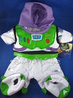 NEW DISNEY BUZZ LIGHTYEAR TOY STORY BUILD-A-BEAR TEDDY COSTUME CLOTHES OUTFIT #BuildABearWorkshopDisney