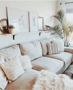 How to style living room, white home