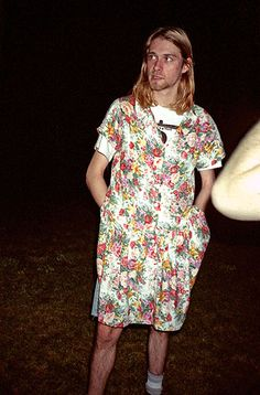 """""""Wearing a dress shows I can be as feminine as I want,"""" he says, in a jab at the macho undercurrents that he detests in rock. """"I'm a heterosexual… big deal. But if I was a homosexual, it wouldn't matter either.""""- Kurt Cobain Atlanta Journal 1993"""