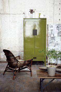 industriele groene woonkamer