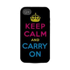 Keep Calm and Carry On CMYK iPhone tough cover