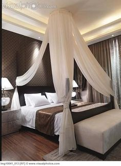 Image detail for -Mosquito net above bed [lmg10041_013] > Stock Photos | Royalty Free ...