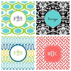 Adorable monogrammed wallpapers for the iPhone!