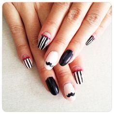 Movember nails - nail art