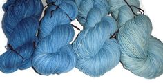 Gradient Blue Superwash Merino Yarn Set Blue DK Weight Merino Yarn - Blue Double Knit Yarn - 3 Ply Yarn - BlueYarn