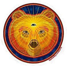 Look through the third eye bear window sticker as he looks through you. Face Stickers, Window Stickers, Round Stickers, Trippy Store, Sleeping Sun, Sloth Bear, Sun Art, Bear Art, Psychedelic Art