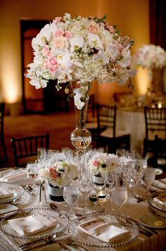 Beautiful Coastal California Wedding from Ethan Yang - wedding centerpiece idea