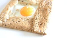 Receta de galette bretona. Crepe con trigo sarraceno.