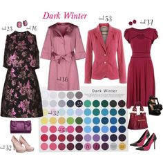 Dark Winter by lizzycb on Polyvore featuring moda, Topshop, Dorothy Perkins, P.A.R.O.S.H., Gucci, River Island, Crown Vintage, Linea Pelle, Jessica McClintock and Suzanne Kalan
