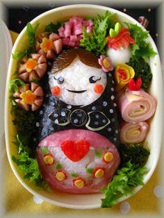 Matryoshka Doll Riceball Bento Box