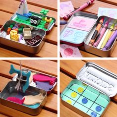 These DIY Portable Playsets Will Keep Your Kids Occupied In Any Situation,Art and Languges the perfect combination to motivate students On-The-Go Mini Playsets para que los estudiantes los usen 5 minutos antes de terminar la clase. Kids Crafts, Cute Crafts, Crafts To Do, Projects For Kids, Diy For Kids, Cool Kids, Craft Projects, Arts And Crafts, Creative Crafts