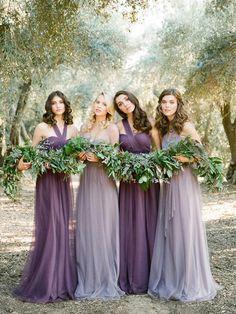 A-line Halter Floor-length Sleeveless Tulle Bridesmaid Dresses # VB226
