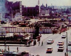 Construccion de la estacion del metro Pino Suarez