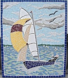 Sailing boat commission for a Cornish bathroom.