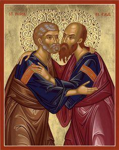 Holy Apostles Sts Peter & Paul Saints, Early Christian, Sf, Orthodox Icons, Christianity, Catholic, Religion, Angels, Princess Zelda