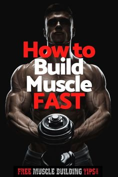 Want to build muscle faster? Check out these 9 tips to help you build muscle fast. Muscle Fitness, Mens Fitness, Fitness Tips, Fitness Motivation, Fitness Facts, Fitness Goals, Six Pack Abs Workout, Biceps Workout, Workout Board