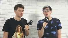 HOLD UP LETS TALK ABOUT DANS SHIRT FIRST OF ALL<<< EH NO. HOW ABOUT DAN WIPING A BOOGER ON PHIL!