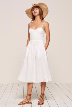 045b05475397 Taryn Toomey s guide to fitness fashion  Reformation Olivia Dress  198 White  Dress Summer