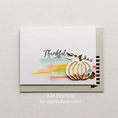 Video series: Making a white die cut pop with color from behind, Hello, Monday 10.12.2015 for www.ellenhutson.com