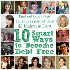Great post full of information, tips, and tricks on how these 16 families paid off over a million dollars worth of debt!