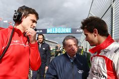 Jules Bianchi with Jean Todt on the grid - 2013 Australian GP