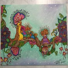 She is a terrific artist. Fairy Coloring, Doodle Coloring, Adult Coloring, Coloring Tips, Coloring Books, Coloring Pages, Copics, Prismacolor, Forest Drawing