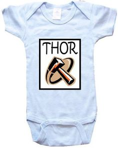 Baby OnesiePersonalized Gifts THOR  The Hammer  by BIGBOYMUSIC, $13.99