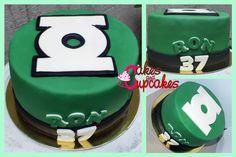 Green Lantern one Tier Cake.