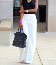 White Wide Leg Pants are my favorite!!!